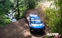 Nikolay Gryazin, al volante del Volkswagen Polo GTI Rally2 WRC 2, durante el Rally de Portugal 2021, puntuable para el Campeonato del Mundo de Rallies WRC 2.