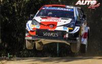 Sébastien Ogier, al volante del Toyota Yaris WRC, durante el Rally de Portugal 2021, puntuable para el Campeonato del Mundo de Rallies WRC.