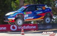 Pepe López, al volante del Skoda Fabia Rally2 Evo WRC 3, durante el Rally de Portugal 2021, puntuable para el Campeonato del Mundo de Rallies WRC 3.