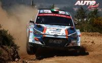 Joshua McErlean, al volante del Hyundai NG i20 Rally2 WRC 3, durante el Rally de Portugal 2021, puntuable para el Campeonato del Mundo de Rallies WRC 3.