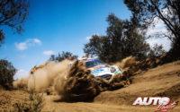 Adrien Fourmaux, al volante del Ford Fiesta WRC, durante el Rally Safari de Kenia 2021, puntuable para el Campeonato del Mundo de Rallies WRC.