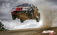 Elfyn Evans, al volante del Toyota Yaris WRC, durante el Rally de Italia / Cerdeña 2021, puntuable para el Campeonato del Mundo de Rallies WRC.