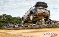 Gus Greensmith, al volante del Ford Fiesta WRC, durante el Rally de Italia / Cerdeña 2021, puntuable para el Campeonato del Mundo de Rallies WRC.