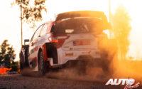 Elfyn Evans, al volante del Toyota Yaris WRC, durante el Rally de Estonia 2021, puntuable para el Campeonato del Mundo de Rallies WRC.