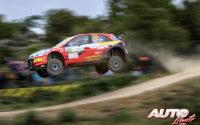 Jari Huttunen, al volante del Hyundai NG i20 Rally 2 WRC 2, durante el Rally de Italia / Cerdeña 2021, puntuable para el Campeonato del Mundo de Rallies WRC 2.