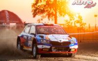 Pepe López, al volante del Skoda Fabia Rally2 Evo WRC 3, durante el Rally de Estonia 2021, puntuable para el Campeonato del Mundo de Rallies WRC 3.
