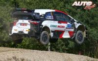 Sébastien Ogier, al volante del Toyota Yaris WRC, durante el Rally de Estonia 2021, puntuable para el Campeonato del Mundo de Rallies WRC.