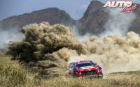 Dani Sordo, al volante del Hyundai i20 Coupé WRC, durante el Rally Safari de Kenia 2021, puntuable para el Campeonato del Mundo de Rallies WRC.