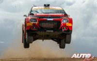 Mads Ostberg, al volante del Citroën C3 Rally 2 WRC 2, durante el Rally de Italia / Cerdeña 2021, puntuable para el Campeonato del Mundo de Rallies WRC 2.