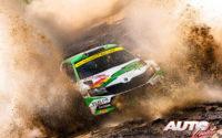 Marco Bulacia, al volante del Skoda Fabia Rally 2 Evo WRC 2, durante el Rally de Italia / Cerdeña 2021, puntuable para el Campeonato del Mundo de Rallies WRC 2.