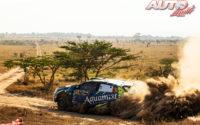 Onkar Rai, al volante del Volkswagen Polo GTI Rally2 WRC 3, durante el Rally Safari de Kenia 2021, puntuable para el Campeonato del Mundo de Rallies WRC 3.