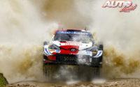Kalle Rovanperä, al volante del Toyota Yaris WRC, durante el Rally de Italia / Cerdeña 2021, puntuable para el Campeonato del Mundo de Rallies WRC.