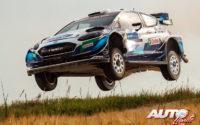 Teemu Suninen, al volante del Ford Fiesta WRC, durante el Rally de Estonia 2021, puntuable para el Campeonato del Mundo de Rallies WRC.