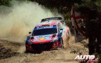 Dani Sordo, al volante del Hyundai i20 Coupé WRC, durante el Rally de Italia / Cerdeña 2021, puntuable para el Campeonato del Mundo de Rallies WRC.