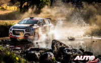 Yohan Rossel, al volante del Citroën C3 Rally 2 WRC 3, durante el Rally de Italia / Cerdeña 2021, puntuable para el Campeonato del Mundo de Rallies WRC 3.