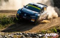 Nikolay Gryazin, al volante del Volkswagen Polo GTI Rally 2 WRC 2, durante el Rally de Italia / Cerdeña 2021, puntuable para el Campeonato del Mundo de Rallies WRC 2.