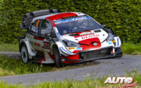 Kalle Rovanperä, al volante del Toyota Yaris WRC, durante el Rally de Bélgica 2021, puntuable para el Campeonato del Mundo de Rallies WRC.