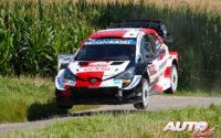 Sébastien Ogier, al volante del Toyota Yaris WRC, durante el Rally de Bélgica 2021, puntuable para el Campeonato del Mundo de Rallies WRC.