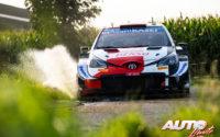 Takamoto Katsuta, al volante del Toyota Yaris WRC, durante el Rally de Bélgica 2021, puntuable para el Campeonato del Mundo de Rallies WRC.