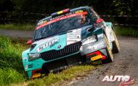 Ghislain De Mevius, al volante del Skoda Fabia Evo Rally2, durante el Rally de Bélgica 2021, puntuable para el Campeonato del Mundo de Rallies WRC 3.