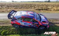 Pierre-Louis Loubet, al volante del Hyundai i20 Coupé WRC, durante el Rally de Bélgica 2021, puntuable para el Campeonato del Mundo de Rallies WRC.