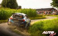 Teemu Suninen, al volante del Ford Fiesta MkII Rally2, durante el Rally de Bélgica 2021, puntuable para el Campeonato del Mundo de Rallies WRC 2.