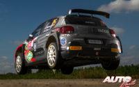 Yohan Rossel, al volante del Citroën C3 Rally2, durante el Rally de Bélgica 2021, puntuable para el Campeonato del Mundo de Rallies WRC 3.