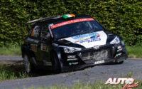 Joshua McErlean, al volante del Hyundai NG i20 Rally2, durante el Rally de Bélgica 2021, puntuable para el Campeonato del Mundo de Rallies WRC 3.