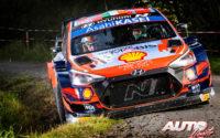 Craig Breen, al volante del Hyundai i20 Coupé WRC, durante el Rally de Bélgica 2021, puntuable para el Campeonato del Mundo de Rallies WRC.