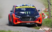 Oliver Solberg, al volante del Hyundai i20 N Rally2, durante el Rally de Bélgica 2021, puntuable para el Campeonato del Mundo de Rallies WRC 2.