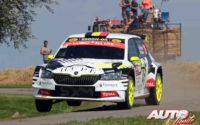 Sébastien Bedoret, al volante del Skoda Fabia Evo Rally2, durante el Rally de Bélgica 2021, puntuable para el Campeonato del Mundo de Rallies WRC 3.