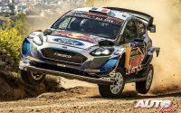 Adrien Fourmaux, al volante del Ford Fiesta WRC, durante el Rally de Grecia 2021, puntuable para el Campeonato del Mundo de Rallies WRC.