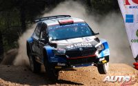 Kajetan Kajetanowicz, al volante del Skoda Fabia Rally2 Evo WRC 3, durante el Rally de Grecia 2021, puntuable para el Campeonato del Mundo de Rallies WRC 3.