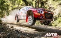 Mads Ostberg, al volante del Citroën C3 Rally2 de la categoría WRC 2, durante el Rally de Grecia 2021, puntuable para el Campeonato del Mundo de Rallies WRC 2.