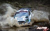 Gus Greensmith, al volante del Ford Fiesta WRC, durante el Rally de Grecia 2021, puntuable para el Campeonato del Mundo de Rallies WRC.