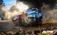 Sébastien Ogier, al volante del Toyota Yaris WRC, durante el Rally de Grecia 2021, puntuable para el Campeonato del Mundo de Rallies WRC.