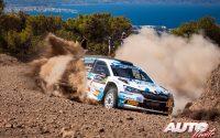 Miguel Díaz Aboitiz, al volante del Skoda Fabia Rally2 Evo WRC 3, durante el Rally de Grecia 2021, puntuable para el Campeonato del Mundo de Rallies WRC 3.