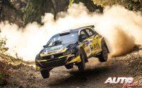 Simos Galatariotis, al volante del Volkswagen Polo GTI Rally2, durante el Rally de Grecia 2021, puntuable para el Campeonato del Mundo de Rallies.