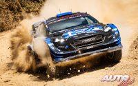 Jourdan Serderidis, al volante del Ford Fiesta WRC, durante el Rally de Grecia 2021, puntuable para el Campeonato del Mundo de Rallies WRC.