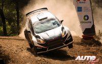 Epameinondas Karanikolas, al volante del Ford Fiesta Rally2, durante el Rally de Grecia 2021, puntuable para el Campeonato del Mundo de Rallies.
